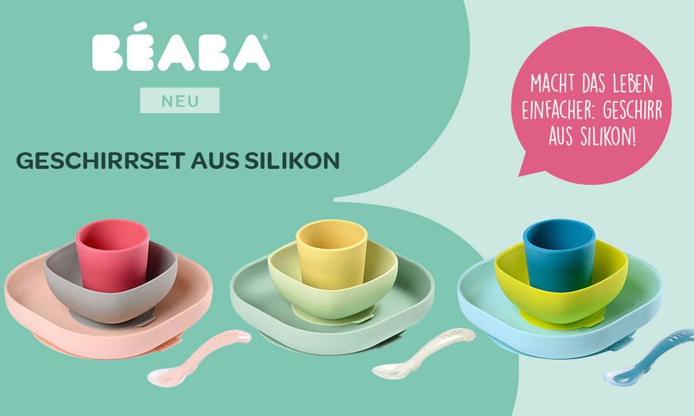 Das Geschirrset aus Silikon von BEABA