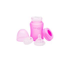 Everyday Baby Glasflasche mit Silikonmantel und Wärmesensor 150 ml.