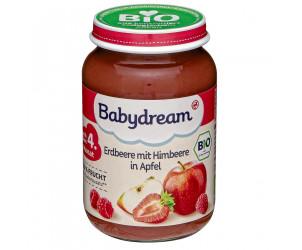 Bio Erdbeere mit Himbeere in Apfel