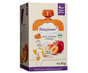Bio Fruchtpüree Apfel, Aprikose & Mango