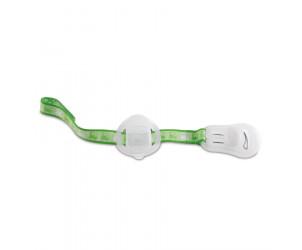 Schnullerband mit Saugerschutz, Clip, Klettband und Schnuller