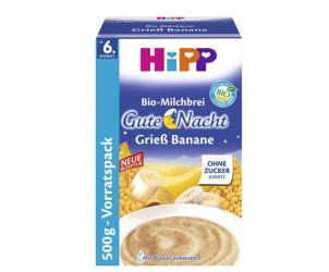 Bio-Milchbrei Gute Nacht Grieß Banane