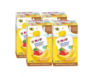 Quetschbeutel Bio-Apfel-Banane und Babykeks