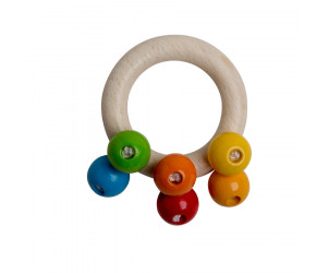 Holz-Greifling Regenbogen-Perlen
