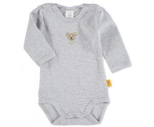 Baby Body 1/1 Arm grey melange