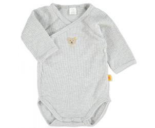 Baby Wickelbody 1/1 Arm grey melange