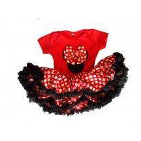 Mädchenkleid Red Black White