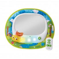 Babyrücksitzspiegel mit Ledlampen, Licht, Musik und Fernbedienung