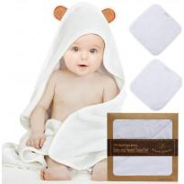 Baby-Kapuzentuch und 2 Waschlappen