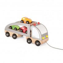 Auto-Transporter mit Ladung