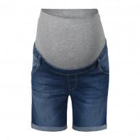 Jeansshorts mit Überbauchbund